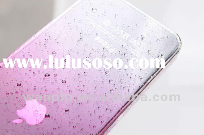 Transparent waterdrop abs mobile phone case for iphone 4