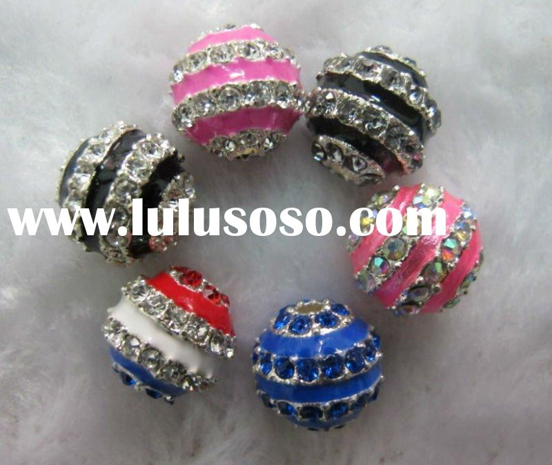 XG-AC10035 Fashion Alloy Crystal Pave Beads
