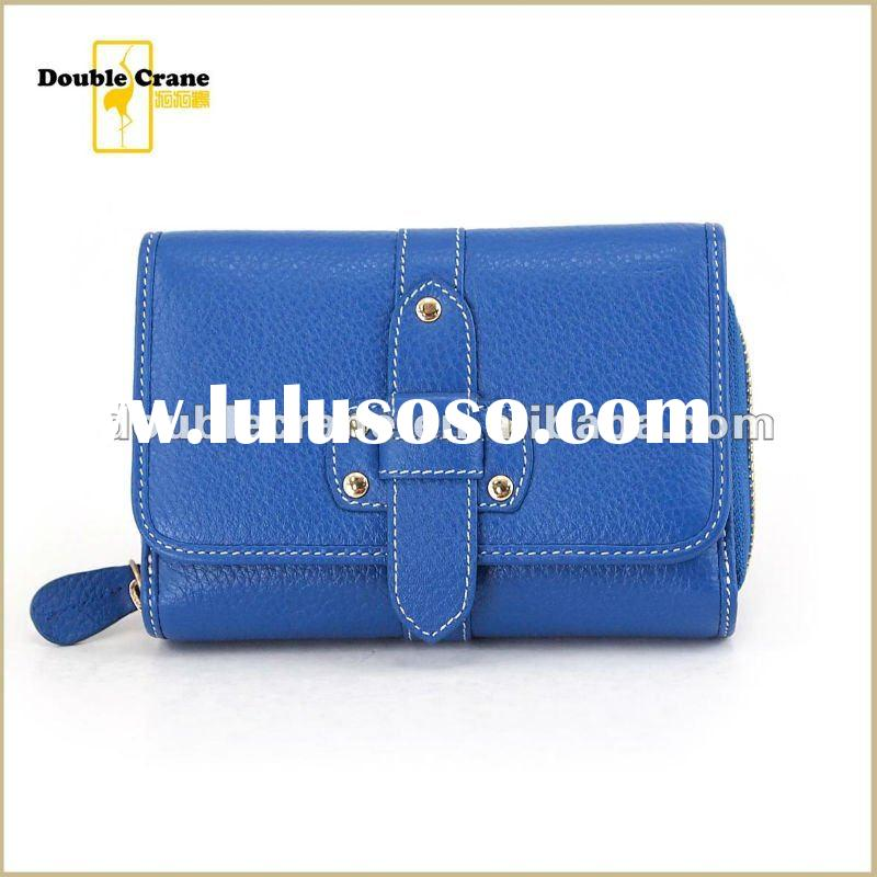 100% Genuine Cow Leather ladies Trifold wallet