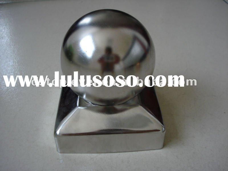 71cm stainless steel fence post cap with polished