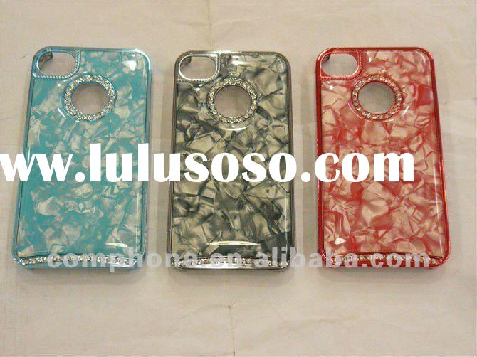 Nice Looking ! durable with crystal Design Plastic mobile phone case for iphone 4/4S