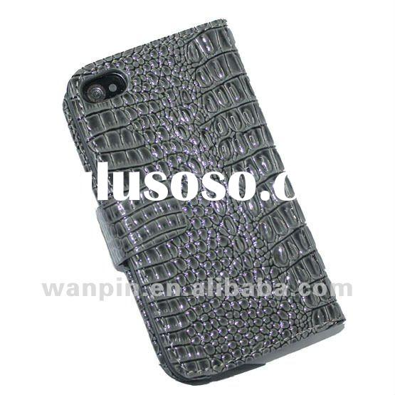 Top quality leather for iphone 4 case