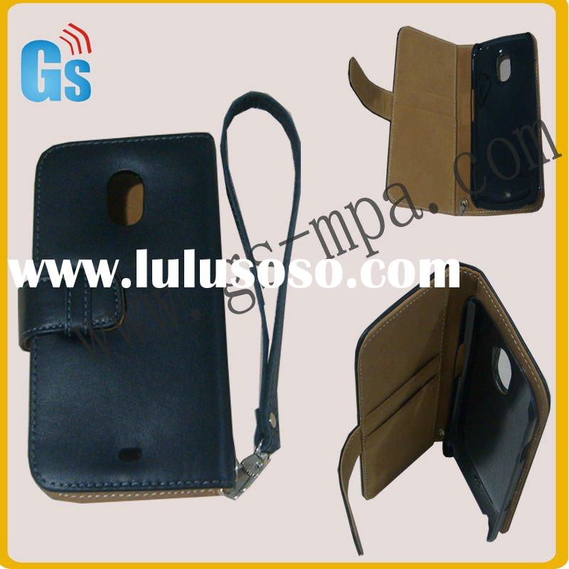 Pu Leather Flip Pouch Case Cover For Samsung Galaxy Nexus Prime i9250 Black