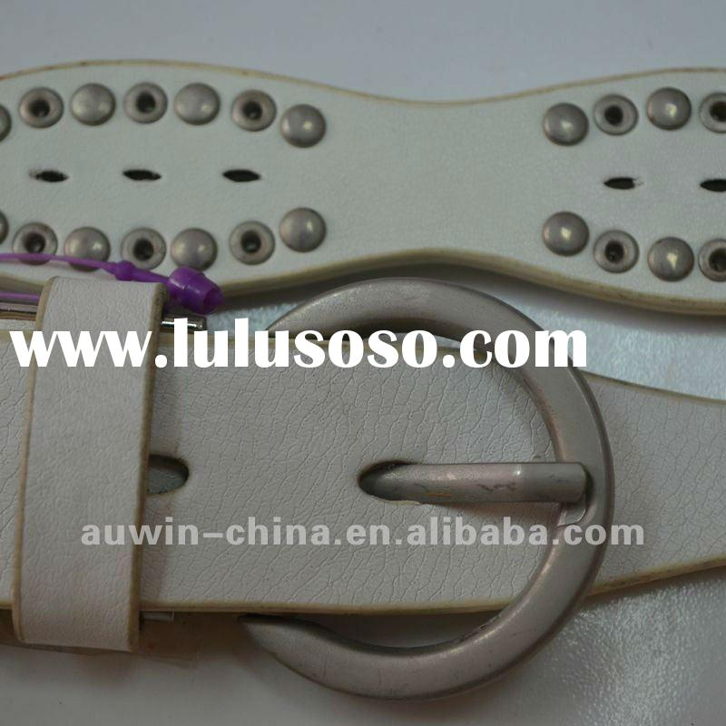 2012 Fashion Lady Cool PU Leather Stud Dressy Rhinestone Belt