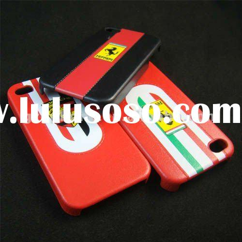 2012 for iphone case PU cover case for 4/4S