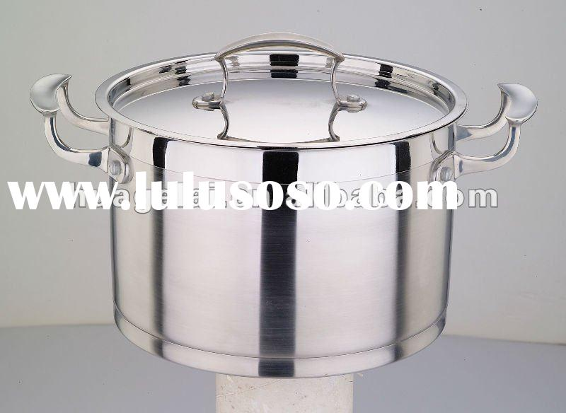 Delicious Cooking Pot 22X14.5CM Stainless Steel Cooking Pot double handles