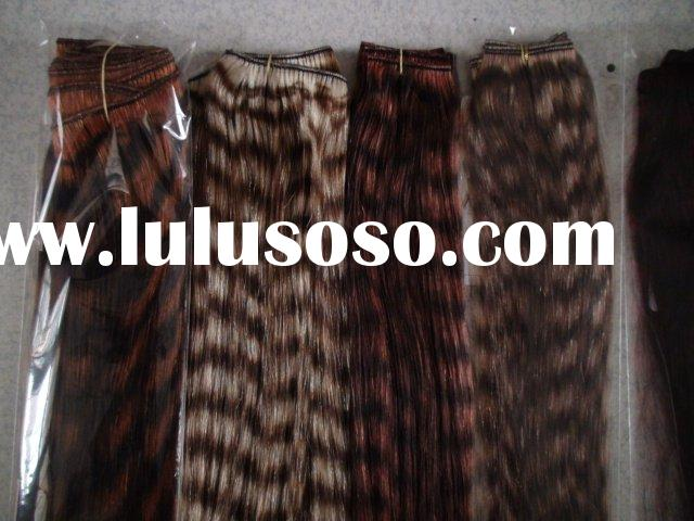 New fashion leopard ombre human hair extension