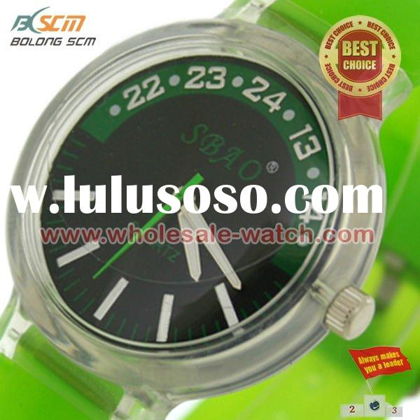 2012 Silicon Jelly Watches Plastic Case watches