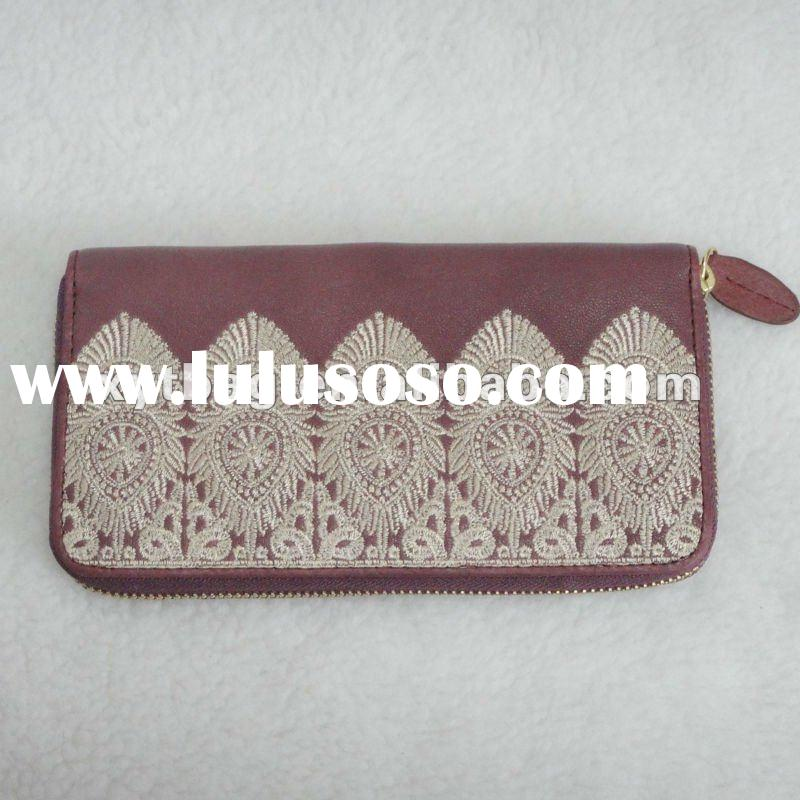 Dark red high-grade ladies's wallets