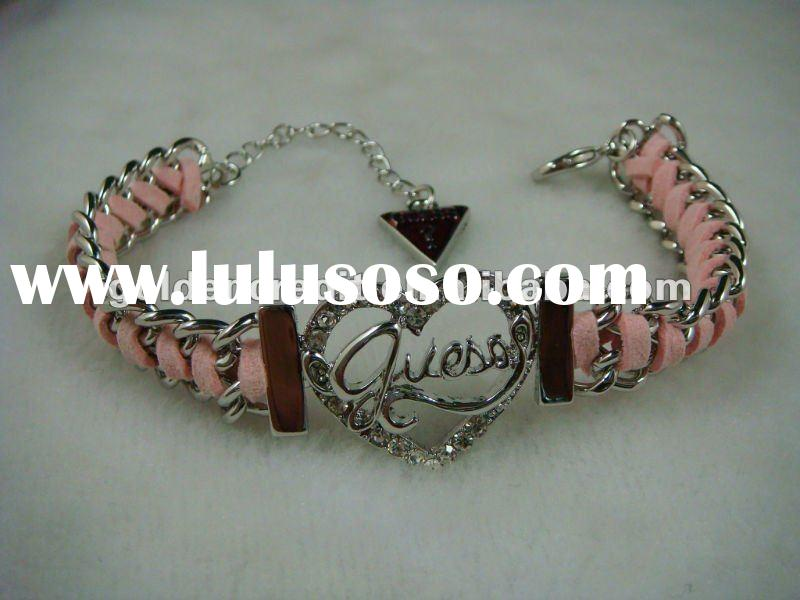 New Fashion Heart Tag PU chain Bracelet Fashion Jewelry