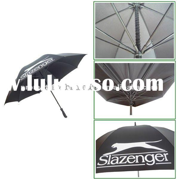 Strong storm proof golf umbrella with custom logo
