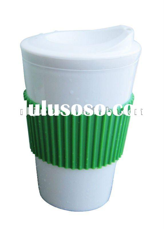 16oz Plastic coffee cup with new lid