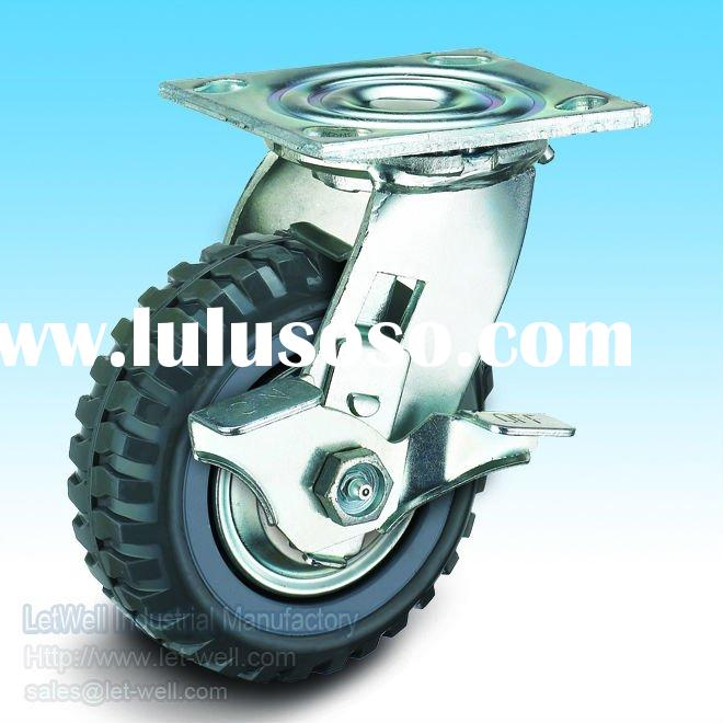 High quality and low price heavy duty skidproof PU wheel caster