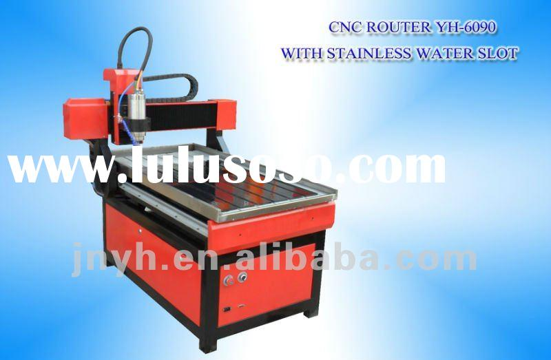 YIHAI small cnc router machine YH-6090 with water slot,worked on wood,stone and metal
