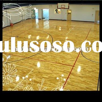 Basketball Court Wood Flooring 57mm Canadian Maple Solid Wood Flooring Non Finished