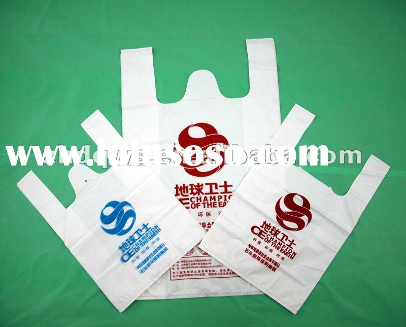 Cheap Price soft loop bag/Patch Handle Bags for promoting/plastic t-shirt bag with fragrance/Shoppin