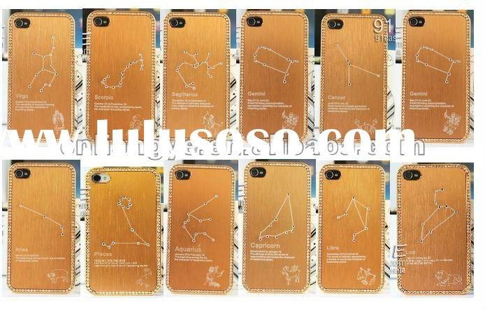 Luxury Bling Constellation Chrome Case Cover for iPhone 4 4G