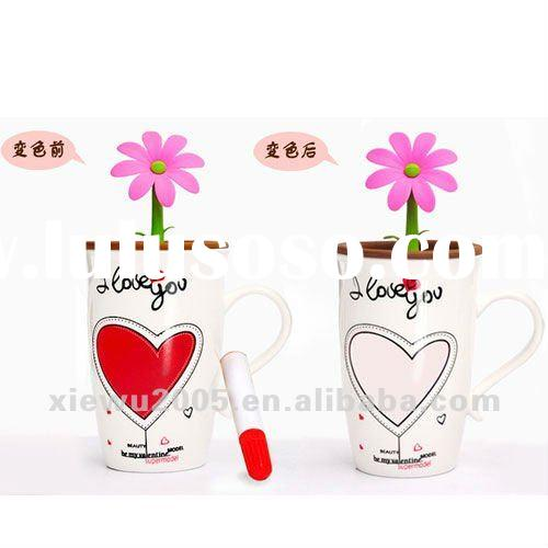 cermic color changing cup/pencil mug/write on mugs