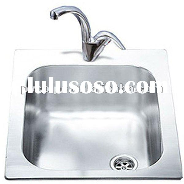 1.0 Bowl Rectangular Stainless Steel Single Inset Sink.