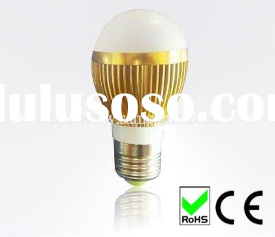 Golden high power led bulbs light E27 3w