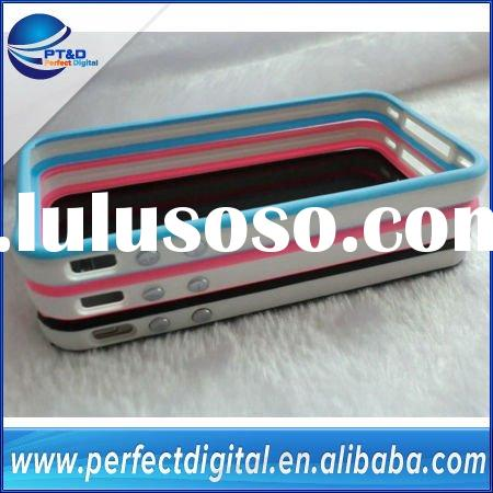 New 2-color TPU bumper case for iPhone 4 4S