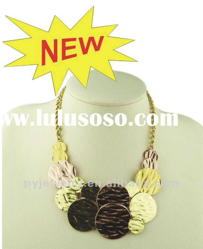 (JAN. New Arrival) Fashion Multi-color Chunky Bib Necklaces,Colorful Plated Alloy Jewelry
