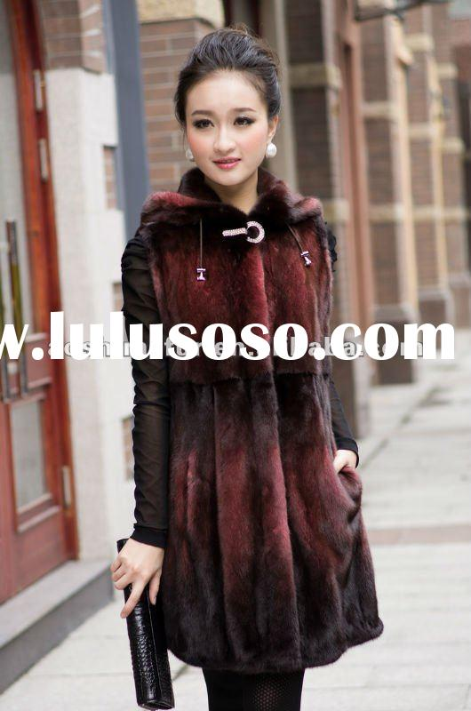 the newest vogue women mink fur vest