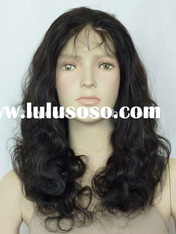 Hot sale remy indian hair full lace wigs