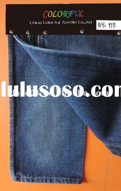 Woven slub denims fabric in stock