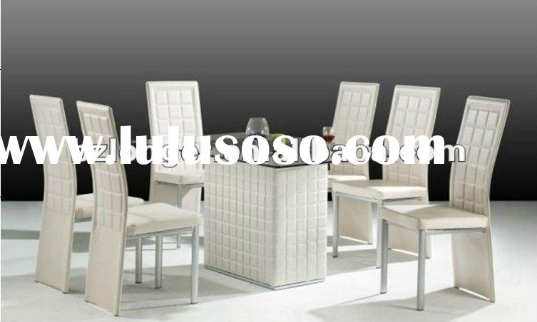 2012 hot selling PVC coated tempered glass dining table