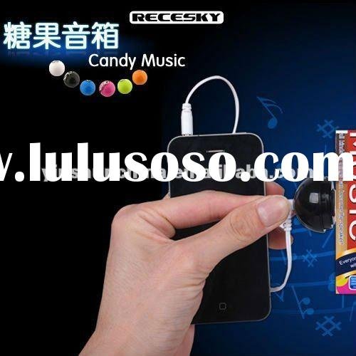 2012 latest mini portable candy vibration anywhere speaker for iphone, ipad and mp3