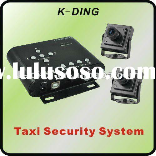 2 Channel D1 Mini Car DVR System with 2 Cameras+Resolution 720*576+Max. 32GB SD Card/ KD-202A