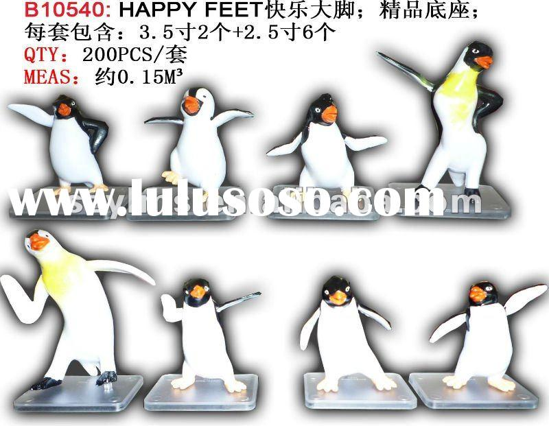 2pcs 2.5 inches + 6pcs 3.5 inches happy feet action figure for children's perfet gift toy DP