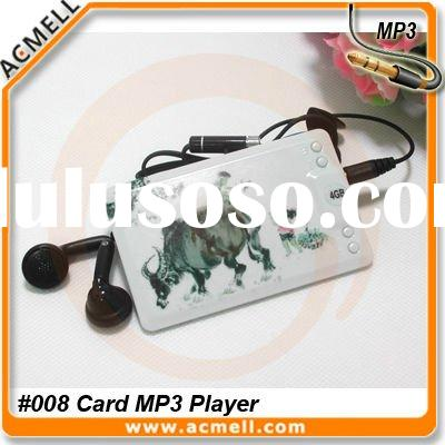 Hot Stylish Card style with color printing mp3 player