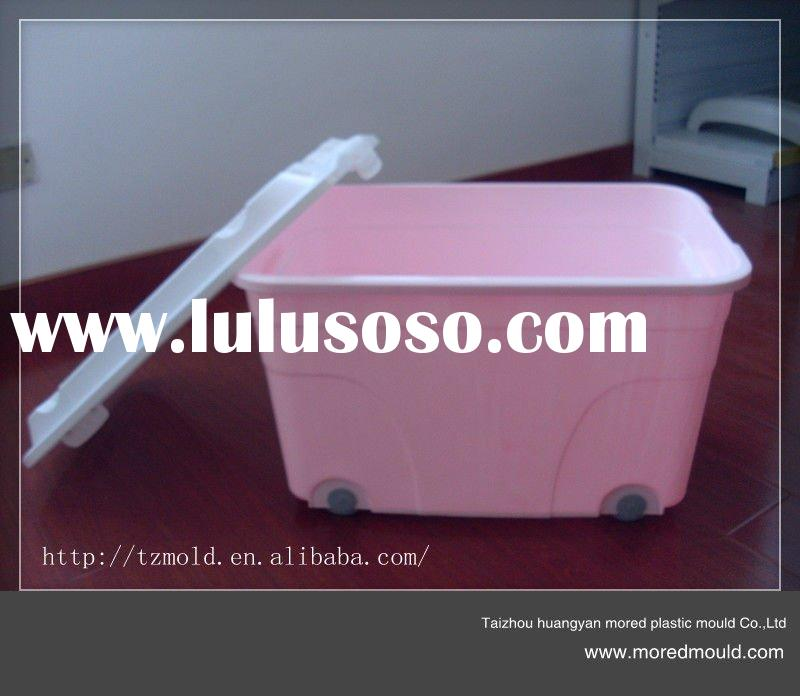 Plastic Storage Box with Handle and Wheels mould