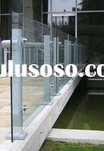 clear tempered glass deck railing