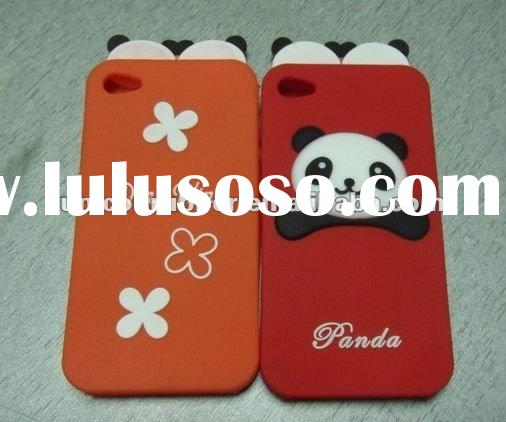 hot selling panda silicone case for Iphone 4