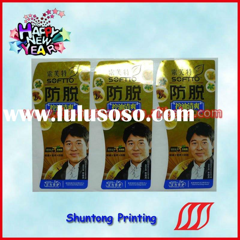 popular sticker label printing made in China