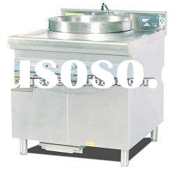 CE approval single burner induction steam boiling pan with cabinet