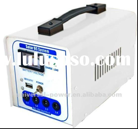 Solar Lighting System with Charger Controller, Batteries and 10W Panel Power