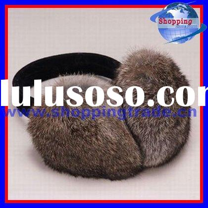 2012 women rabbit fur ear muffs