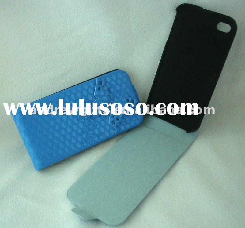fiber flip leather phone case
