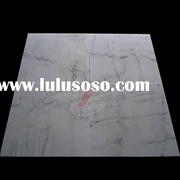 Natural white marble tiles and slabs