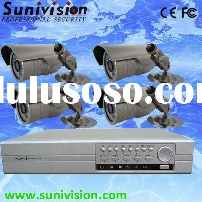 4CH CCTV System Surveillance Equipment with Sony Camera and 4ch DVR with VGA