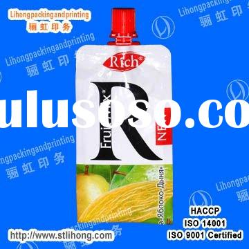 Food Contact Grade Plastic Packaging Bags for Juice
