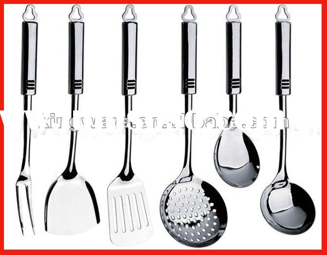 Hight quality 18/0 or 18/8 stainless steel cooking utensil as cooking tools