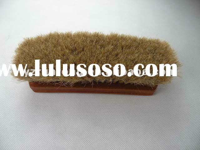 wood shoe brush with horse hair, Manufacturer, high qulity
