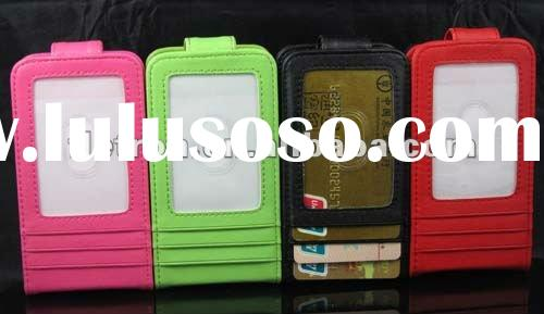 New Wallet Leather Case with Card Holder leather case For iPhone 4S 4