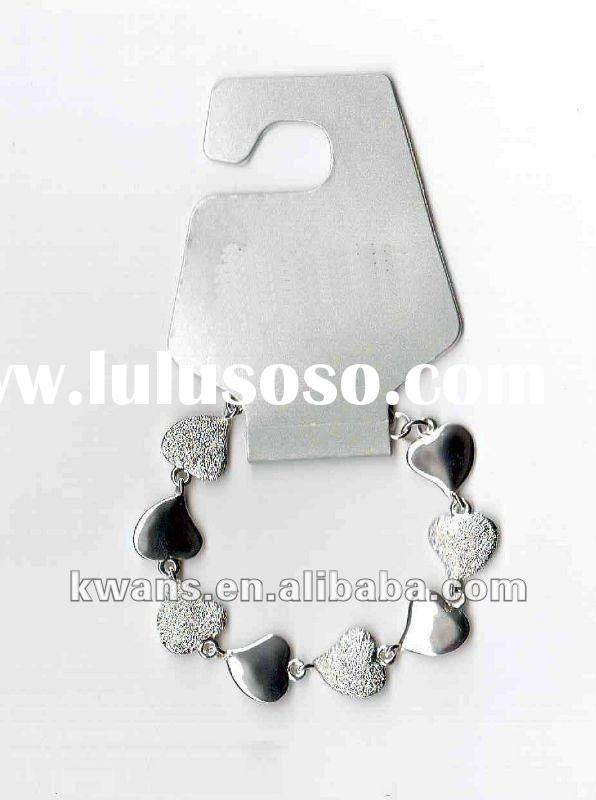 Stylish Silver Plated Heart Chain Bracelet Costume Jewelry