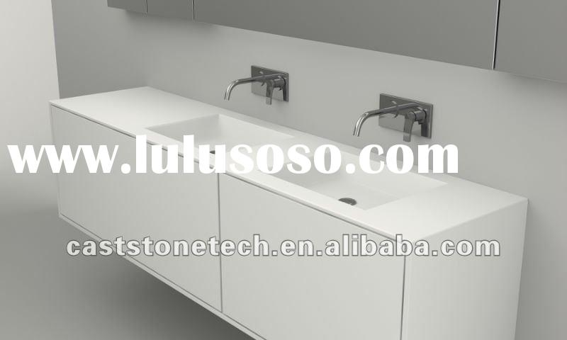 solid surface double vanity top basin